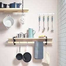 kitchen utility shelf rack wall