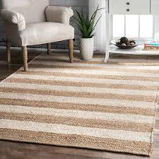 details about braided rug flatwave area rug indoor outdoor kitchen mat striped beige off white