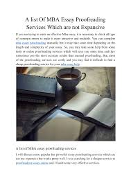 a list of mba essay proofreading services which are not expensive 2 1