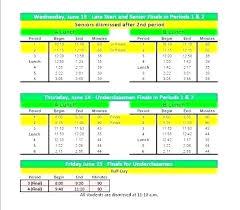 High School Schedule Template Elementary School Schedule