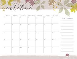 Printable October Calendar Printable October Calendar The Elli Blog