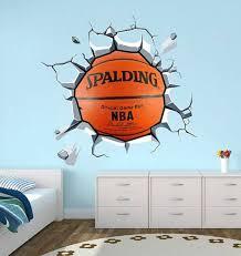 fancy design basketball wall decor room ideas themed bedroom stickers art