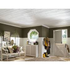 Armstrong Decorative Ceiling Tiles Shop Armstrong 100Pack 100in x 100in Country Classic Plank HomeStyle 35