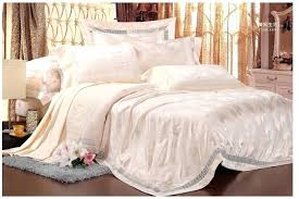 pink bed sheets queen natural silk bedding set jacquard beige cream king cotton wedding luxury bedspread