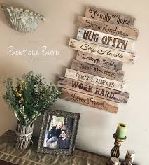 wood sign family rules family art rustic wall decor farmhouse decor  on always forever inspirational reclaimed wood wall art with wood sign family rules family art rustic wall decor farmhouse decor
