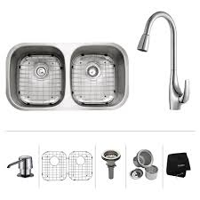 Stainless Steel Kitchen Sink Combination Kraususacom