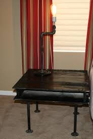 diy pallet iron pipe. Recycled Pallet Side Table Diy Iron Pipe C