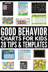 Good Behavior Charts 28 Reward System Tips And Templates