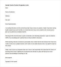Download Free Letter Resignation Template Teacher Activetraining Me