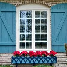 Decorative Window Boxes blue decorative window box with z batten shutters Gardening 49