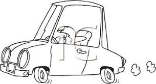 car driving clipart black and white. Unique Driving Coloring Page Of A Child Or Short Person Driving Car  Royalty Free  Clipart Picture With Black And White