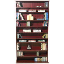large cd dvd media storage shelves mahogany ms0764m