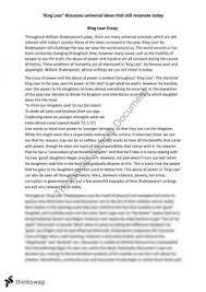 ideas for writing king lear essay year hsc english king lear essay