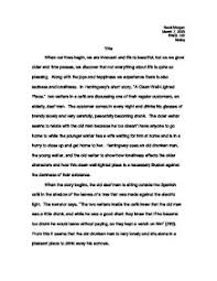 hemingway s short story a clean well lighted place a level page 1 zoom in