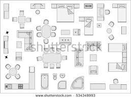 floor plan furniture vector. Home Furniture Top View Floor Plan Vector