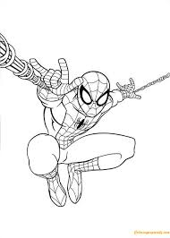 Spiderman coloring pages are a simple and easy way to encourage and enhance creative expression. Spiderman Jumping Coloring Page Spiderman Coloring Superhero Coloring Pages Spiderman Painting