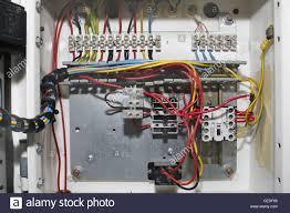 fuse box electric power stock photos fuse box electric power wires inside power supply box of fridge stock image