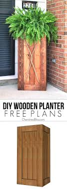 do it yourself pallet furniture. DIY Tall Wooden Porch Planter Do It Yourself Pallet Furniture B