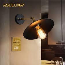 Amerikaanse Loft Industriële Muur Lampen Vintage Nachtkastje