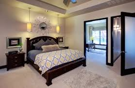 I View In Gallery Bright Yellow Pendants Add A Hint Of Color To The Bedroom