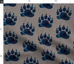 Sugar Pine Design Fabric Amazon Com Spoonflower Bear Paw Fabric Bear Claw Batik