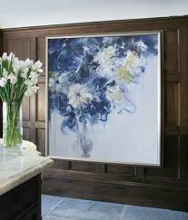 abstract flower oil painting on canvas original art impressionist landscape painting by jackson