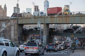 New Xcell Auto Repair Traffic Makes Way Across Elevated Portion Brooklynqueens Editorial