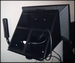 picture of how to convert a crt tv wall mount into a movable flate screen wall