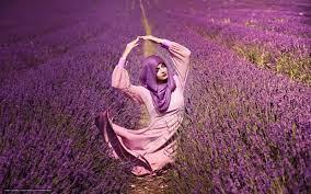 wallpaper girl, Flowers, Lavender ...