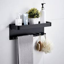 2021 bathroom shelf aluminum black