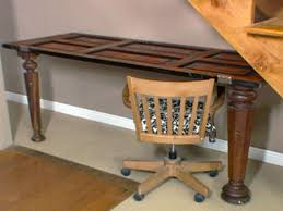 how to making a desk out of an antique door