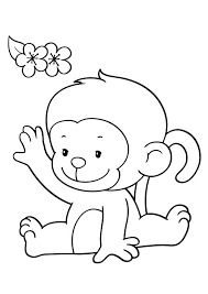 25 Cute Monkey Coloring Pages Your Toddler Will Love Clip Art