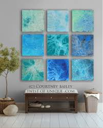 HUGE Abstract art CUSTOM 9 square Abstract Wall by TwistOfUnique
