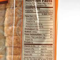 honey wheat bread nutrition facts honey wheat bread nutrition label nature s own wheat bread nutrition facts