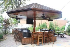 Outdoor Kitchen And Grills Handmade Primo Grill Outdoor Kitchen And Bar By Deck Kitchen