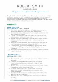Retail Sales Clerk Resume. Corporate And Contract Law Clerk Resume ...