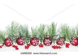 Christmas Ornaments Border Christmas Border With Red Ornaments Stock Image K5896392
