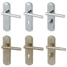 varthen t bar lever on back plate door handle pair