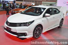 toyota corolla 2015 black. toyota corolla esport nurburgring edition front three quarter at the 2015 bangkok motor show black