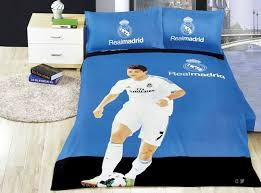 whole home textile real madrid team 100 cotton portugal s cristiano ronaldo football fans for bedding bedroom set bed sheet set navy blue duvet cover