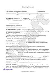 independent contract template plumbing contract template independent contractor agreement form