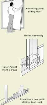 how to maintain a sliding glass door