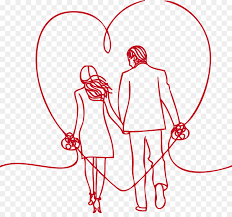 Love Significant Other Drawing Loving Couple Holding Hands Back