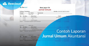 Untuk lebih memahami contoh jurnal perusahaan jasa, berikut beberapa transaksi yang terjadi pada perusahaan bengkel 3. Contoh Laporan Jurnal Umum Akuntansi Beeaccounting