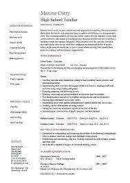 School Teacher Resume Examples Teacher Resume Samples For New ...