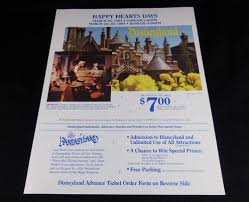 Disneyland Happy Hearts Days Special Event Flyer Ticket Order