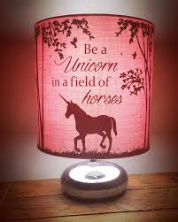 Unicorn Lampshade Bedsidereading Lamp Perfect For Any Etsy