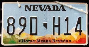 Vehicle Registration Plates Of Nevada Wikipedia