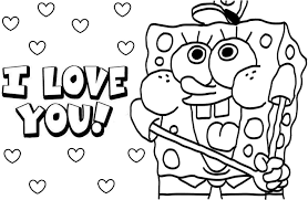 Small Picture Spongebob squarepants coloring pages i love you ColoringStar