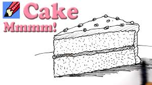 birthday cake slice drawing. Simple Drawing To Birthday Cake Slice Drawing